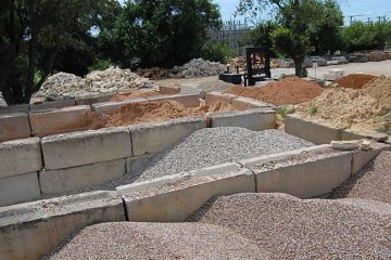gravel, sand and cement